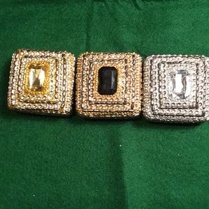 Trinket Small Jewelry Boxes. Set of 3.